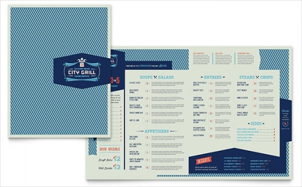 Fine Dining Restaurant Menu Brochure