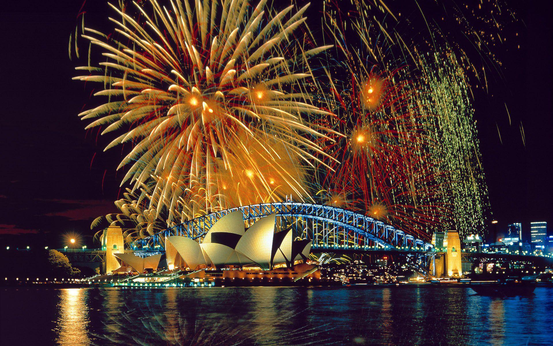 Fireworks Over Sydney Harbour Wallpaper