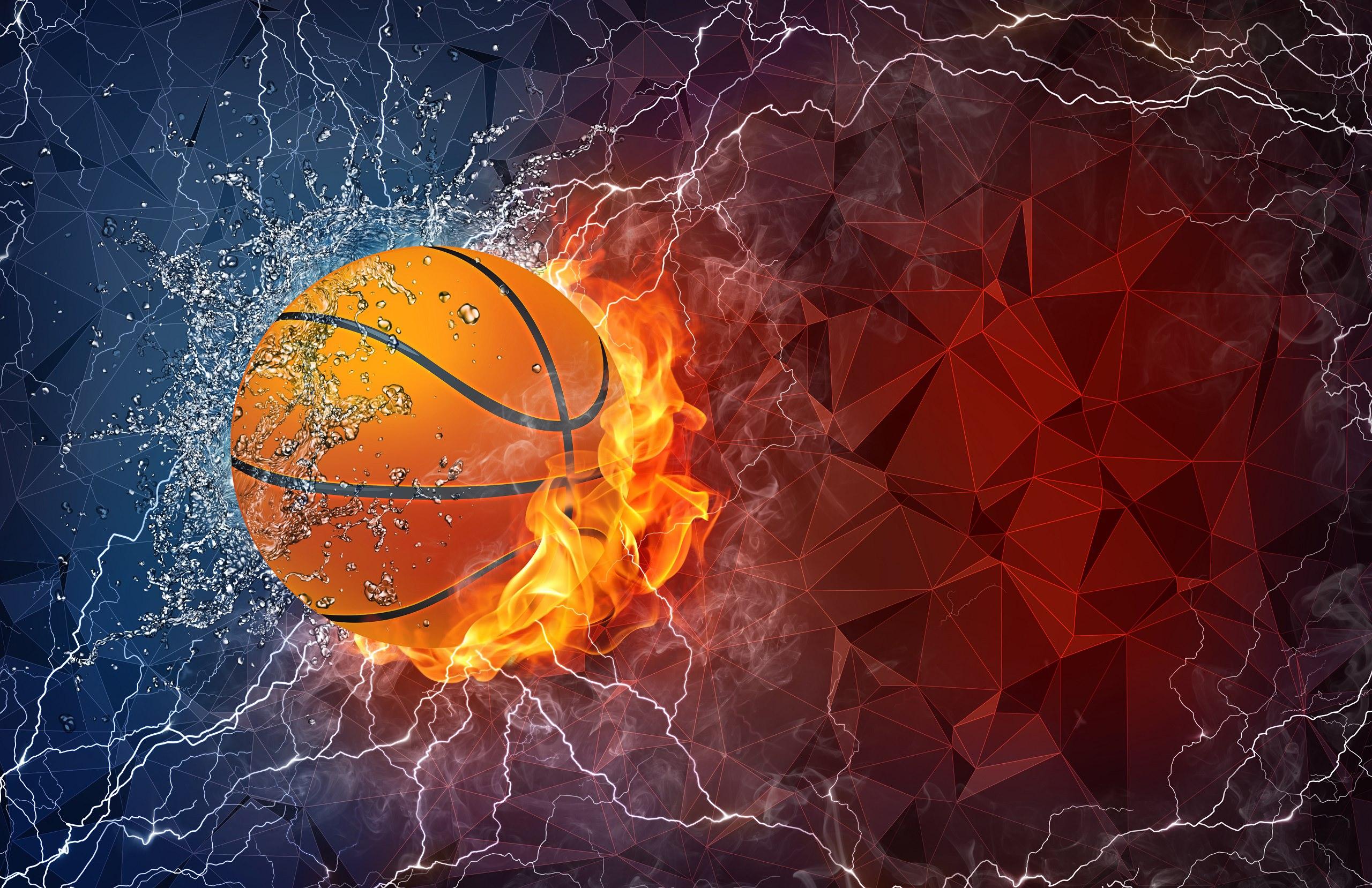 Fiery Basketball Wallpaper