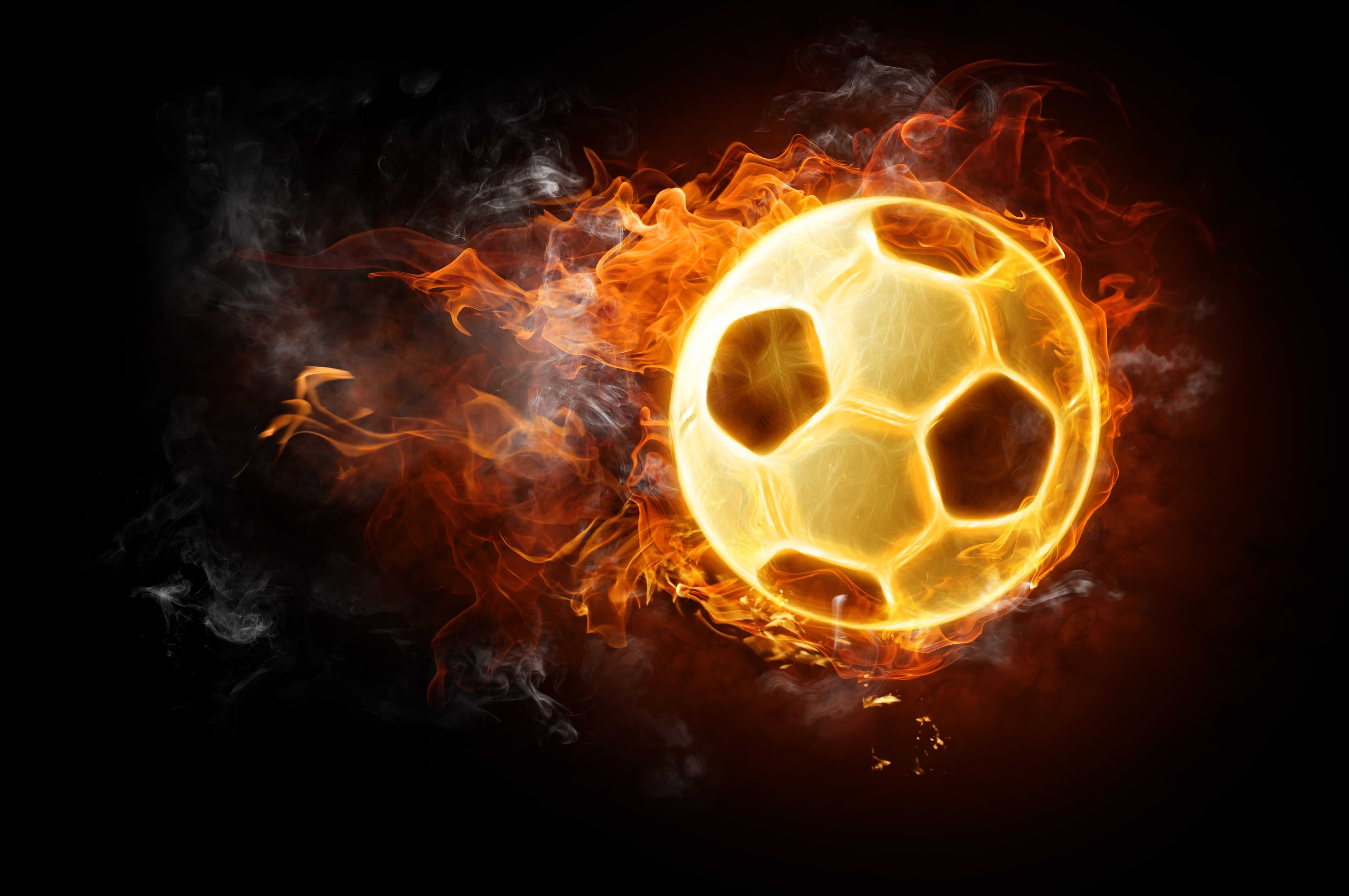 Firey Football Background For Download