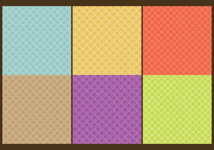 Fish Scale Patterns Line For Free