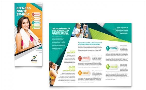 Fitness Trainer Brochure Advertising Template