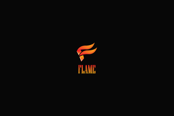 Flame Torch Logo Design