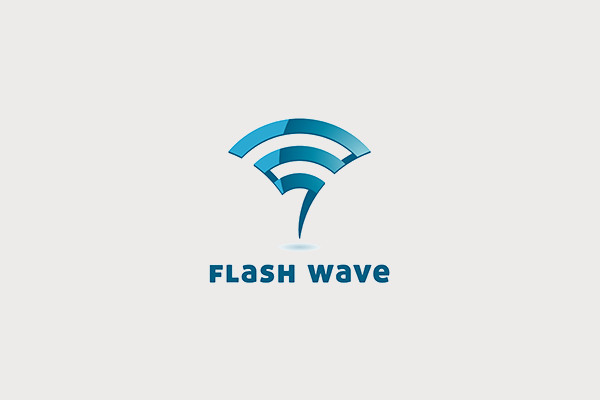 Flash Wave Metal Logo Design