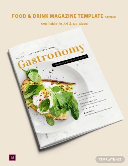food drink magazine template