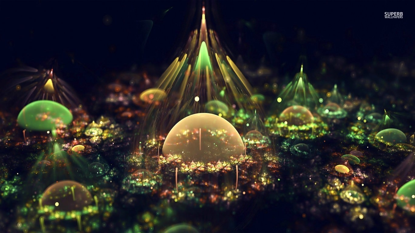 Fractal Orbs Abstract Background