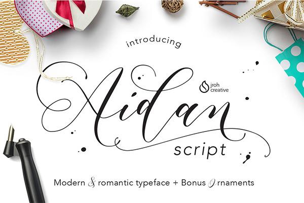 Free Aidan Romantic Script Font