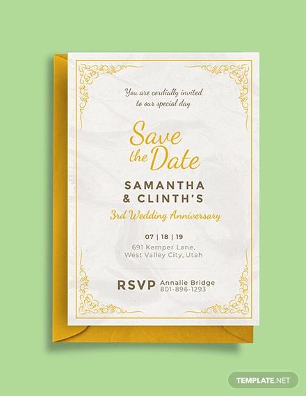 free anniversary invitation card template