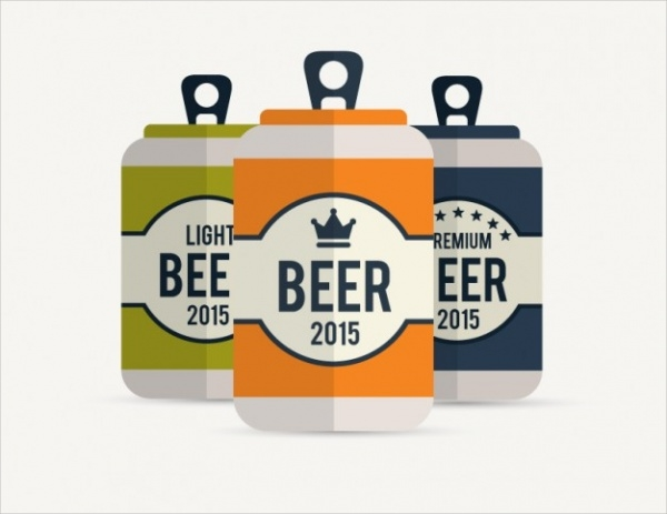 Free Beer Cans Packaging Design
