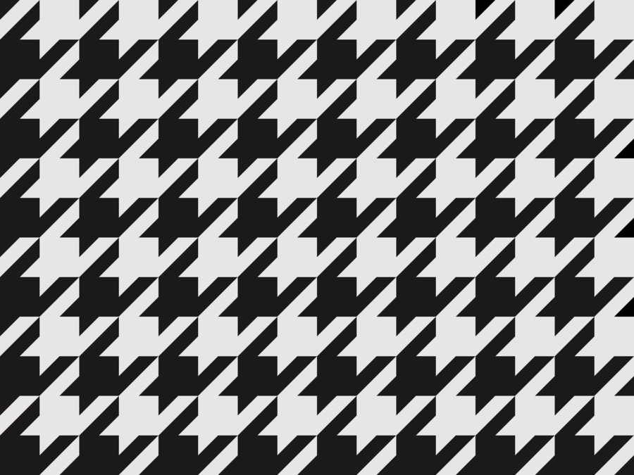 Free Black and White Houndstooth Pattern