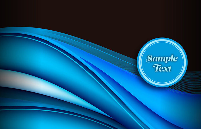 Free Blue Abstract Waves Background