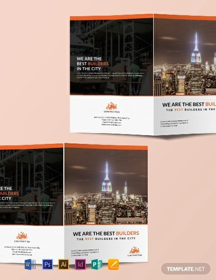 free building construction brochure template