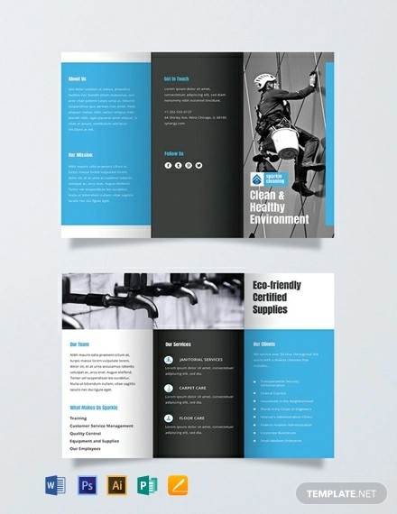 free cleaning brochure template