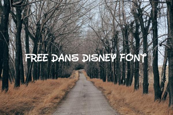 Free Dans Disney Font