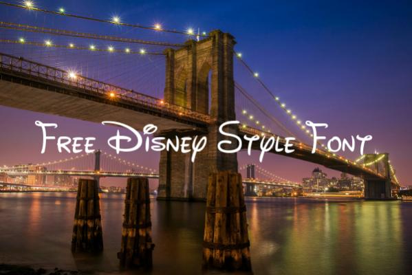 Free Disney Style Font