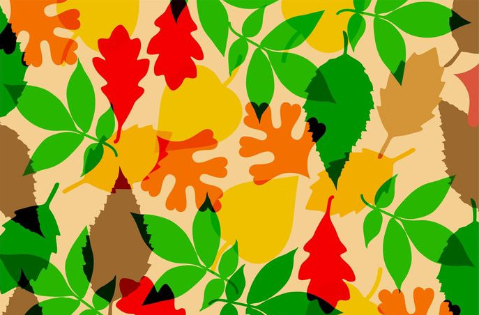 free fall leaves vector texture