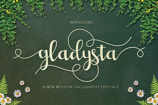 Free Gladysta Script Font