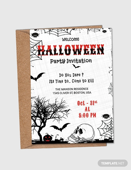 free halloween party invitation flyer