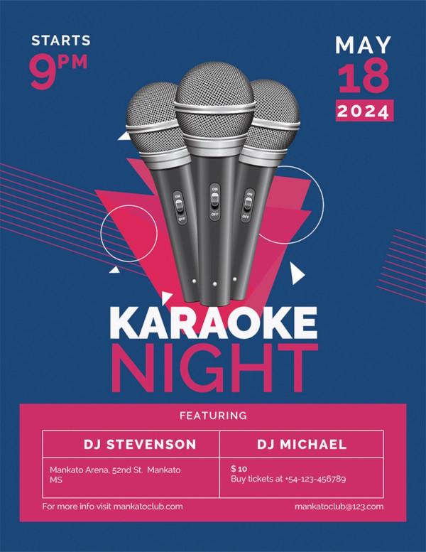 free karaoke flyer template