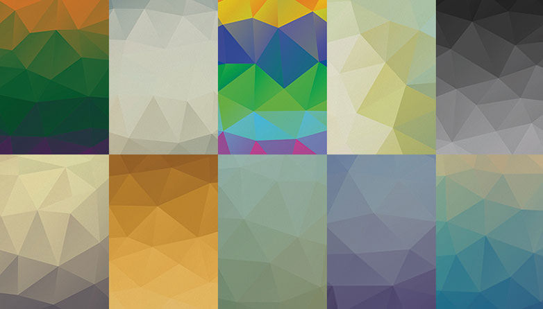 10 Free Low Poly PSD Background