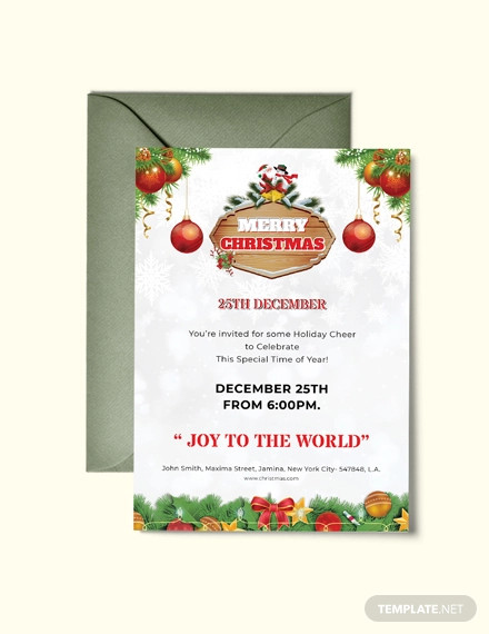 free merry christmas invitation flyer