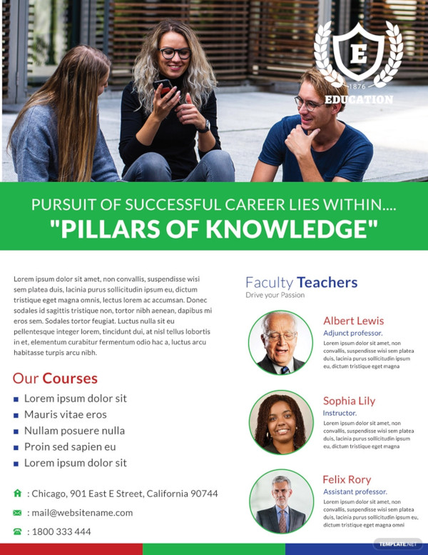 free modern education flyer