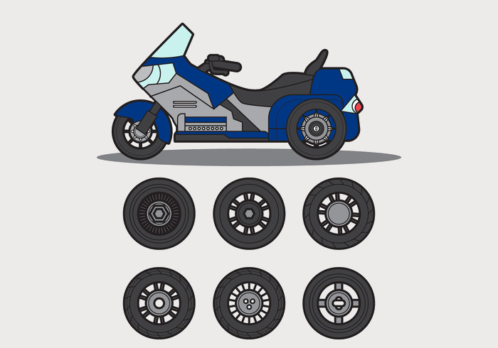 Free Motor Trike Vector Graphics