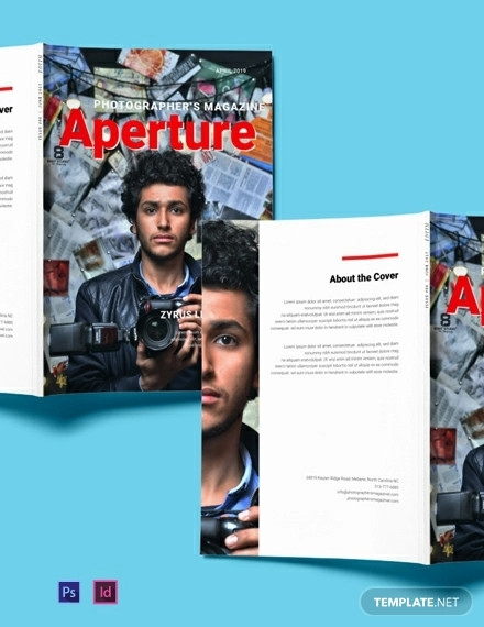 free photographer magazine template