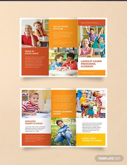free preschool brochure template