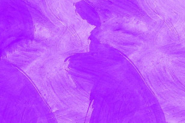 Free Purple Watercolor Background