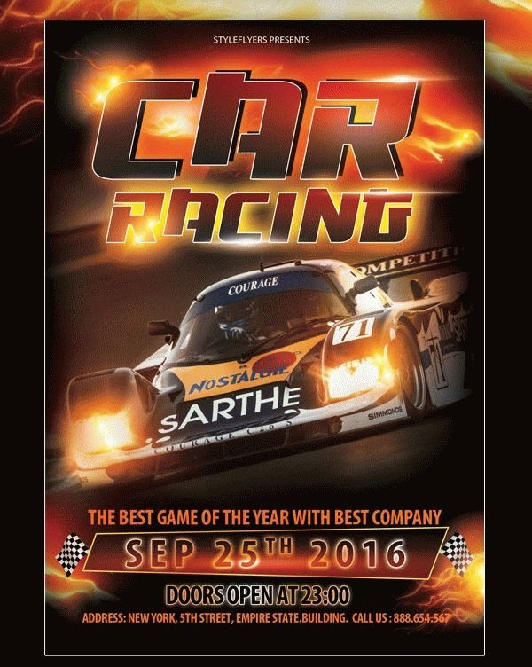 Free Racing Flyer Template
