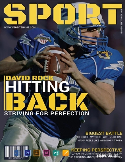 free sports magazine cover template