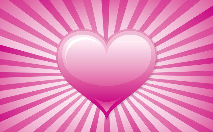 free sunburst pink vector background