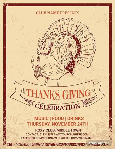 free thanksgiving invitation flyer