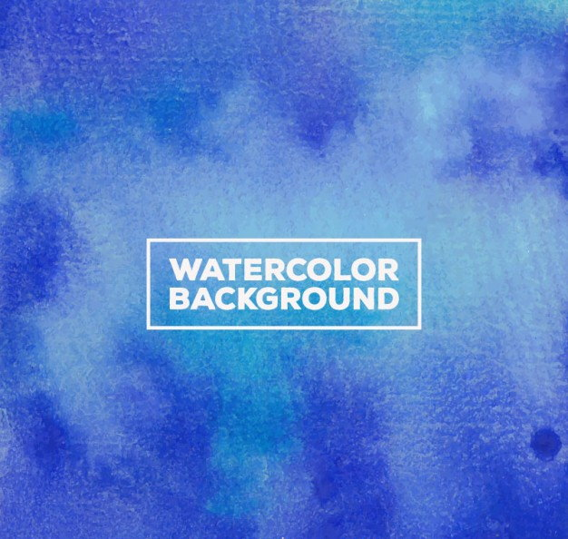 Free Vector Blue Watercolor Background