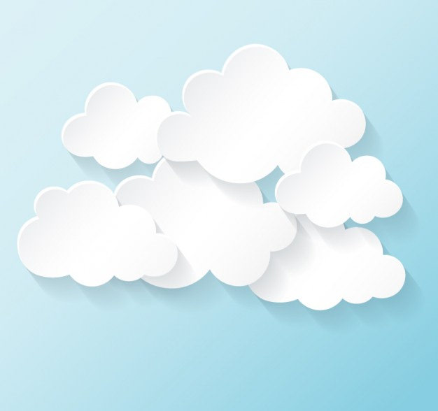 Free White Clouds Vector Collection