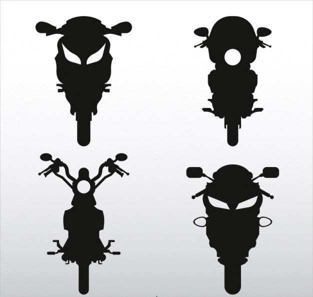 Front Motorcycles Free Vector Graphics