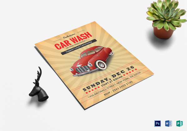 fundraiser car wash flyer template in word