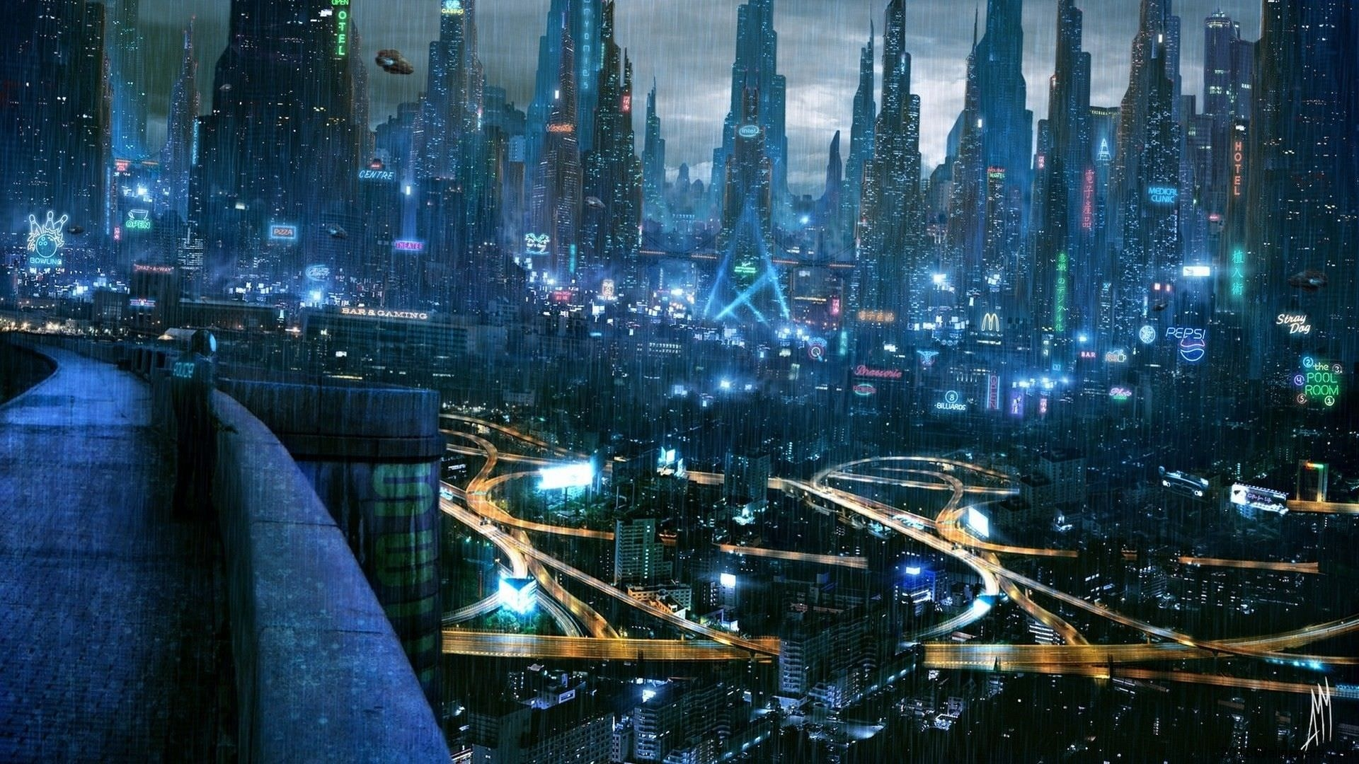 Future City HD Wallpaper