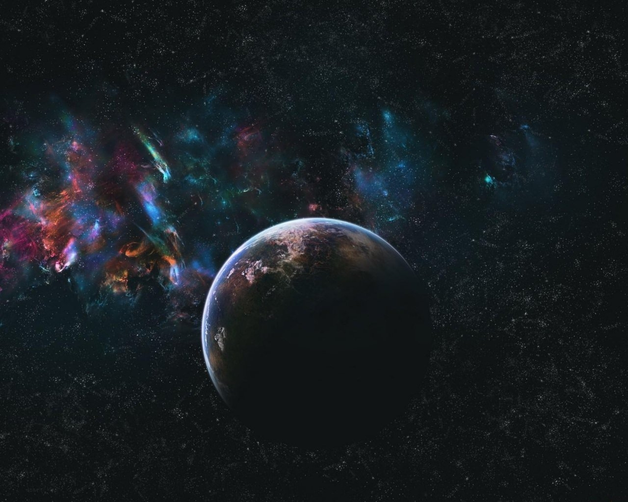 Galaxy of Planets Background