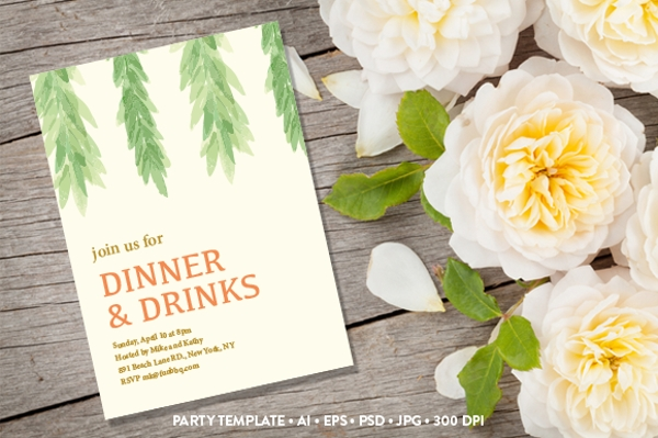 Garden Party Postcard Invitation