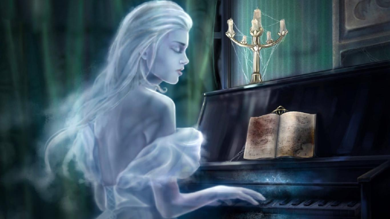 Ghost Playing Piano after Midnight