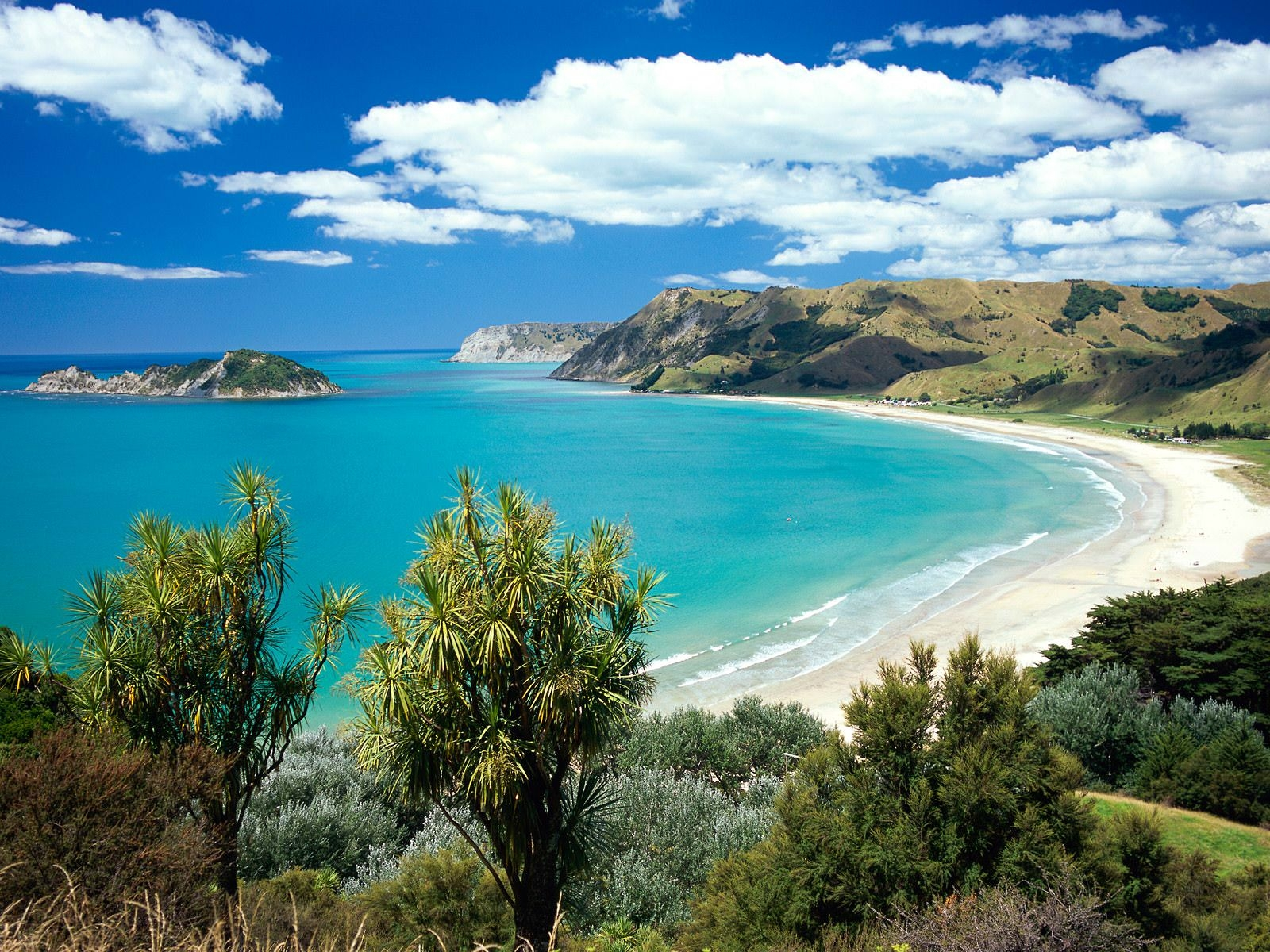 Gisborne New Zealand in Summer Wallpaper