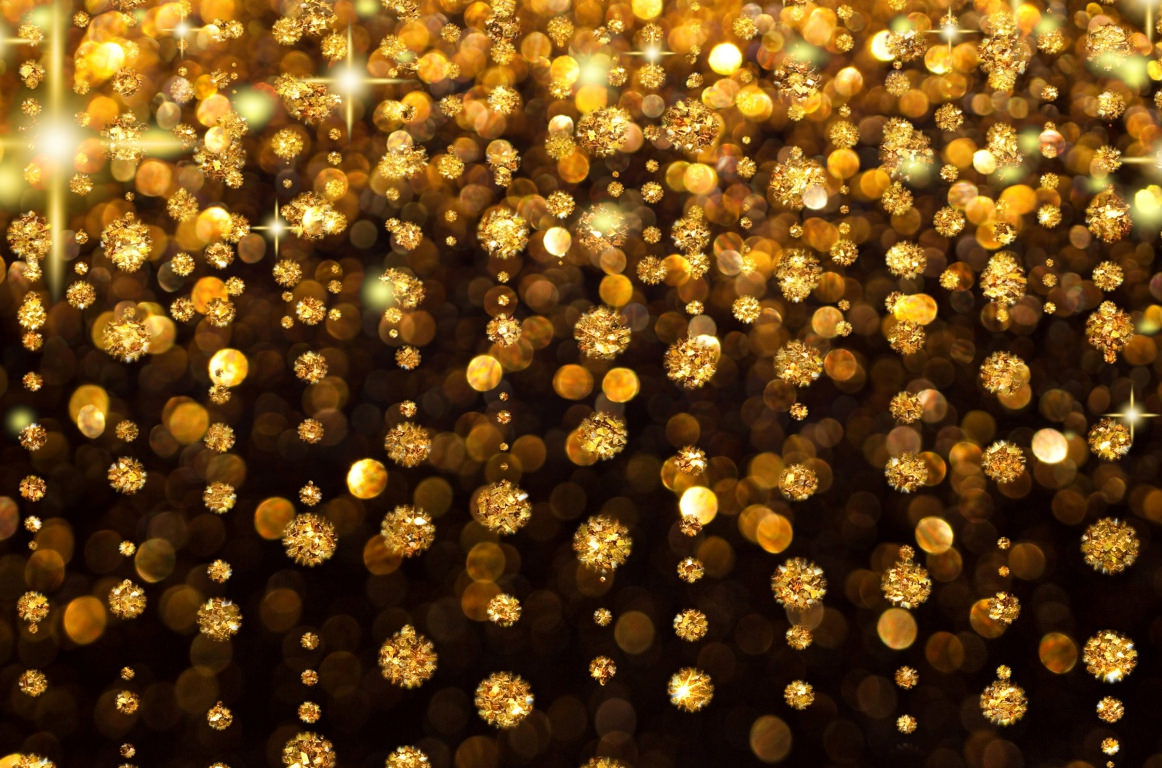 Gold Glitter Glow Light Stones Patterns