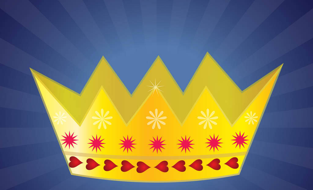 Golden Crown Vector Design