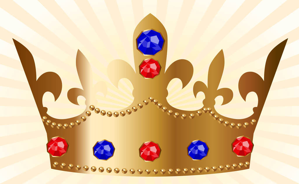 Golden Vector Crown Design