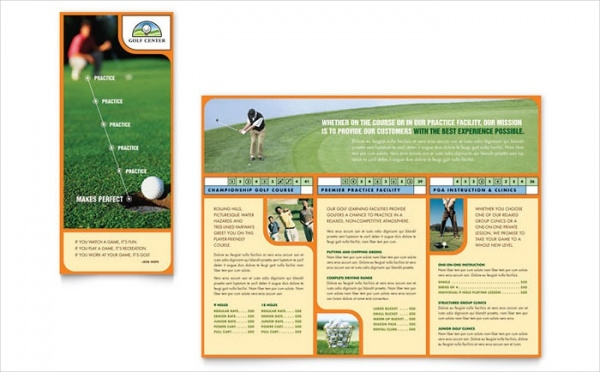 Golf Course Brochure Template