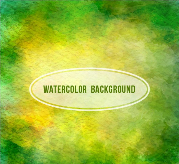 Green Abstract Watercolor Background