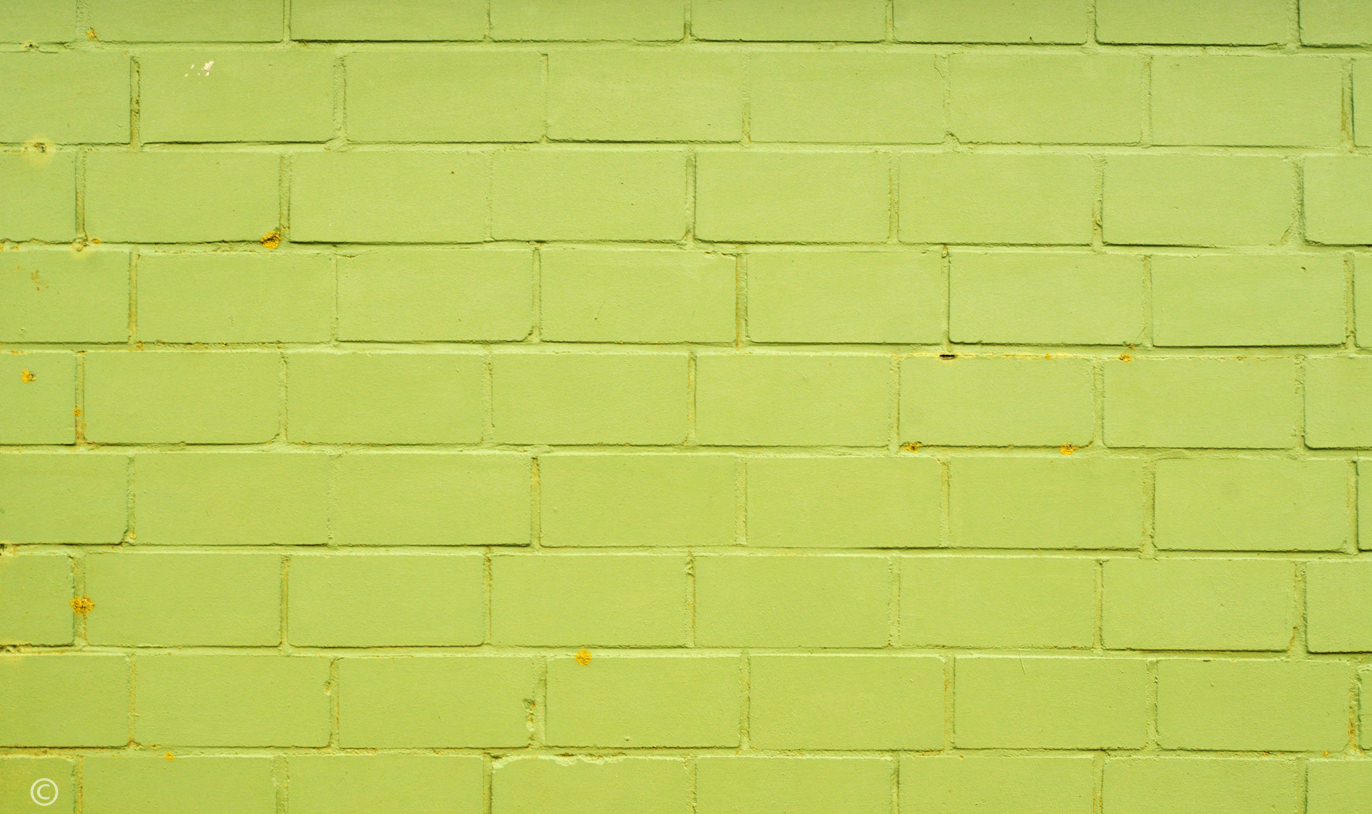 green brick painted texture