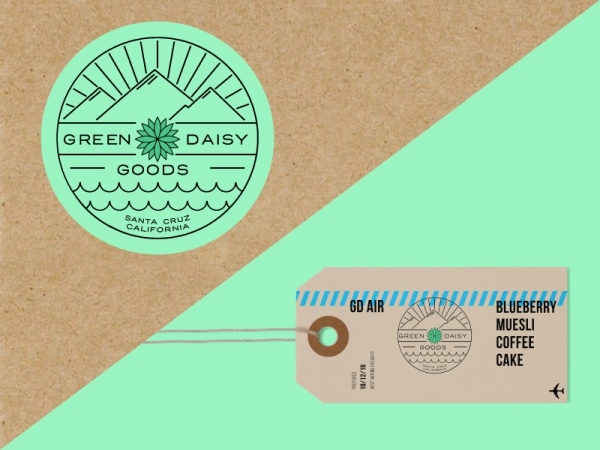 Green Daisy Goods Luggage Tag